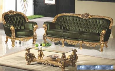 sofa tamu ukiran klasik mewah