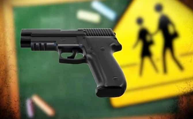 Gun, school, security