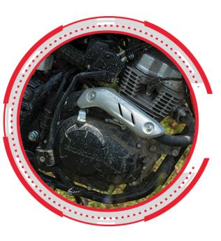 Design dan kualitas honda crf150l yang lebih mengedepankan technologi.