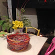 Dyed willow basket