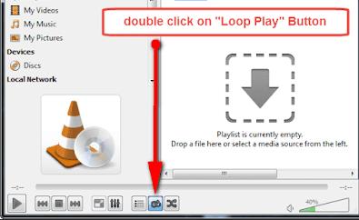 IPTV loop play button VLC