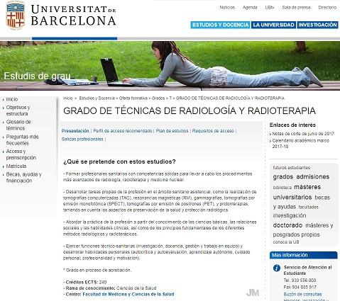 Tecnicos en Imagen Diagnostica: La Universidad de Barcelona ...