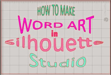 Word art, Silhouette Studio, Silhouette tutorial