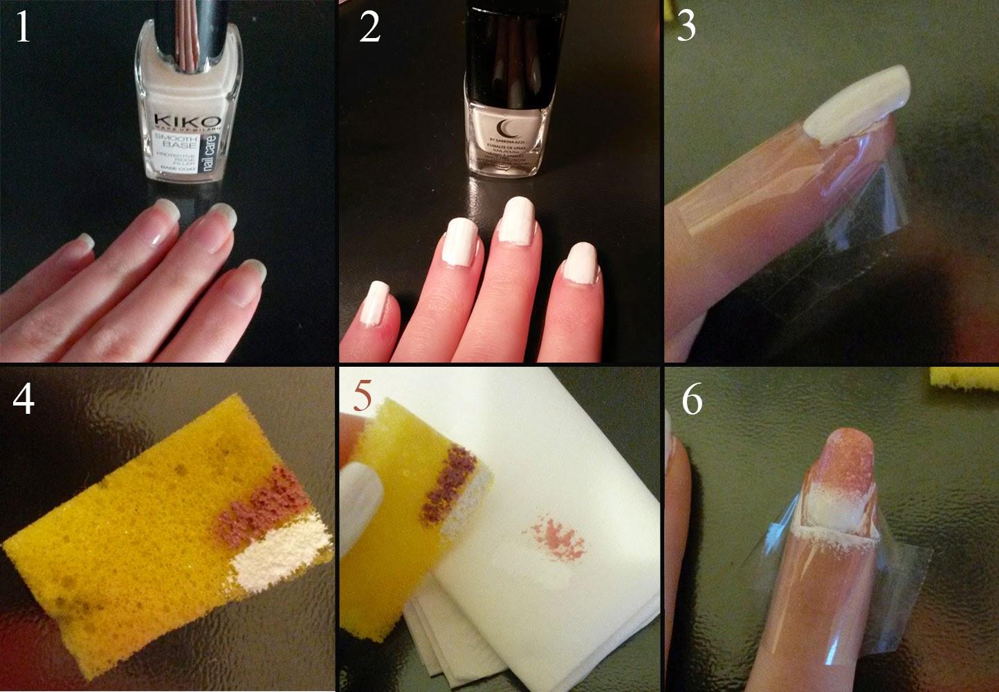 tuto nail art rose et blanc