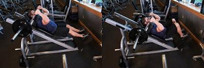 Ejecución del ejercicio sentadilla hack o hack squat
