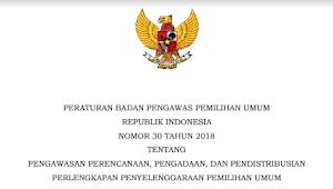 Download PERBAWASLU RI Nomor 30 Tahun 2018