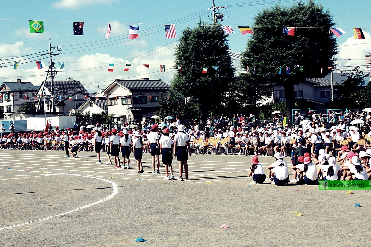 การแข่งวิ่งในกีฬาสีโรงเรียนประถม ประเทศญี่ปุ่น