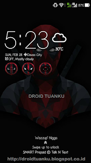 Download Dead Pool Theme For Asus Zenfone 2 4 5 dan 6