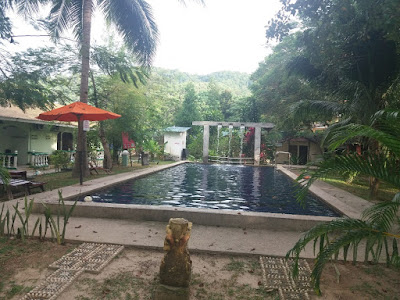 Swimming Pool in the Eco Resort on Langkawi Island
