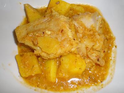 RAYA EN SALSA PESCADO frutos secos receta gastronomia cocina