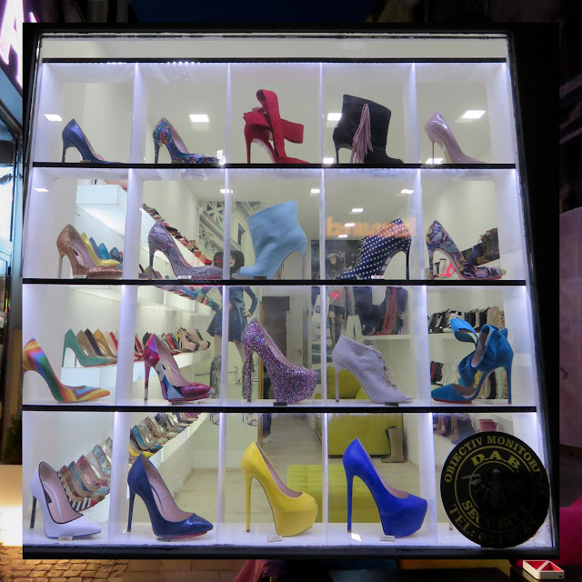 High heel shoes in Lipscani in Bucharest, Romania