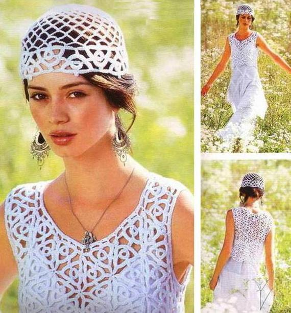 Crochet Sweaters Crochet Vest And Hat Set Free Pattern For Women