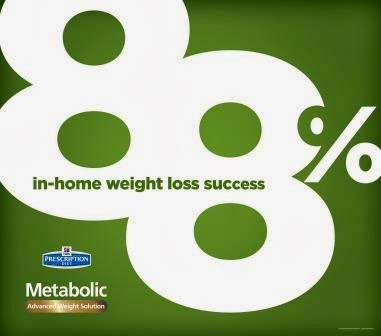 88% in home success with Hill's Metabolic Weight Loss Solution for pets #HillsPet