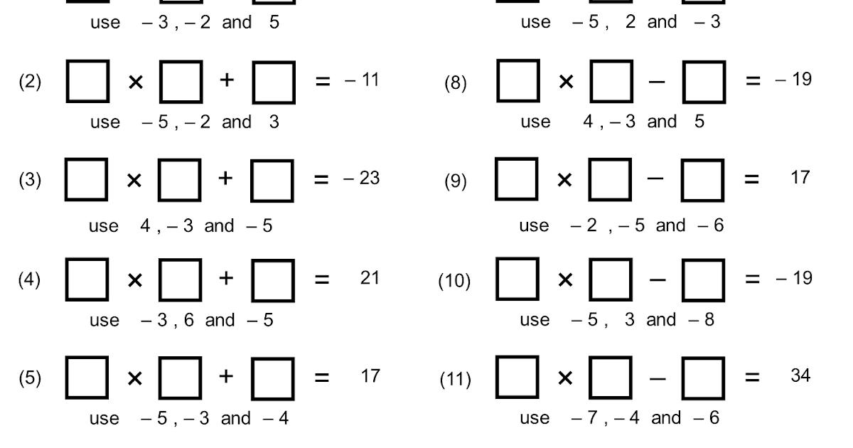 MEDIAN Don Steward mathematics teaching: directed number gaps