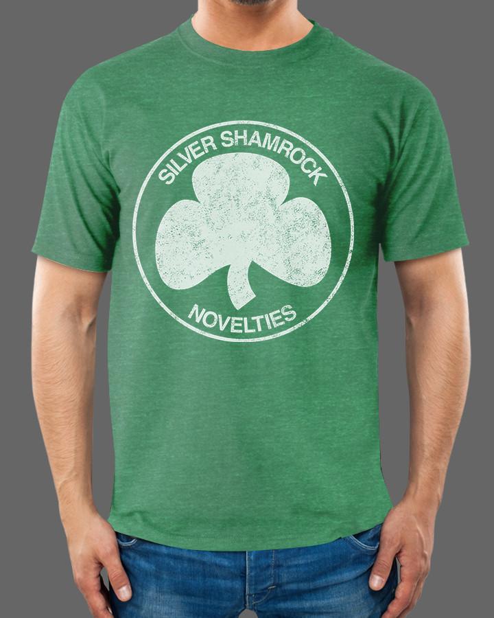 Fright-Rags Silver Shamrock Shirt Arrives For St  Patrick's
