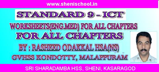 SRI SHARADAMBA HS SHENI: STANDARD 9 - ICT WORKSHEETS(ENGLISH MEDIUM ...