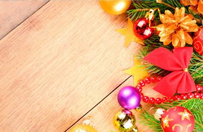 Tarjeta de Navidad Borde Navideño