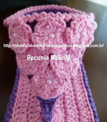 DIY Bebê - Sandálias de Crochê Para Meninas Com Passo a Passo 7