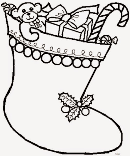 Blog Católico Navideño Botas O Calcetines De Papa Noel Para Colorear