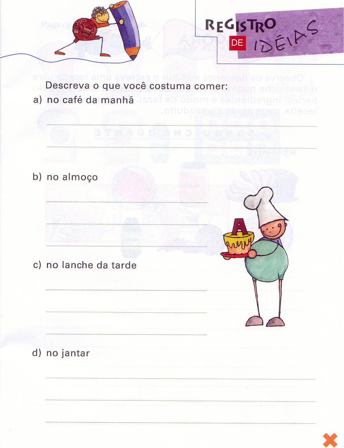 Atividades Educação infantil Redação para crianças