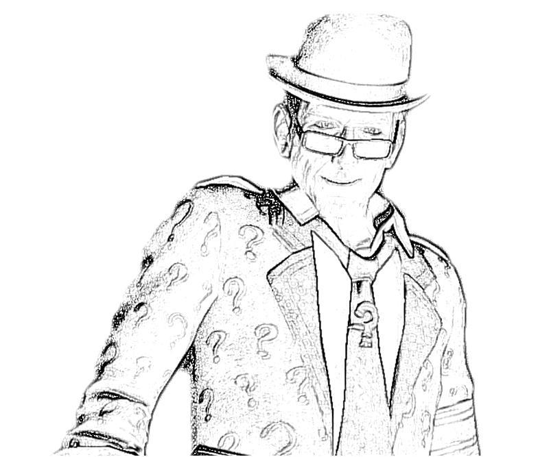 coloring pages batman riddler - photo#26