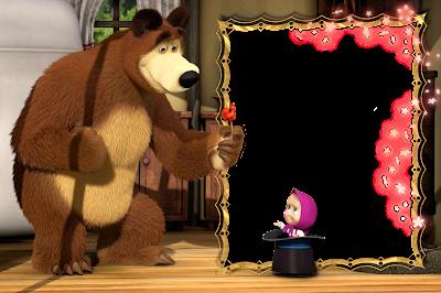 Bingkai Foto Anak Karakter Masha and The Bear