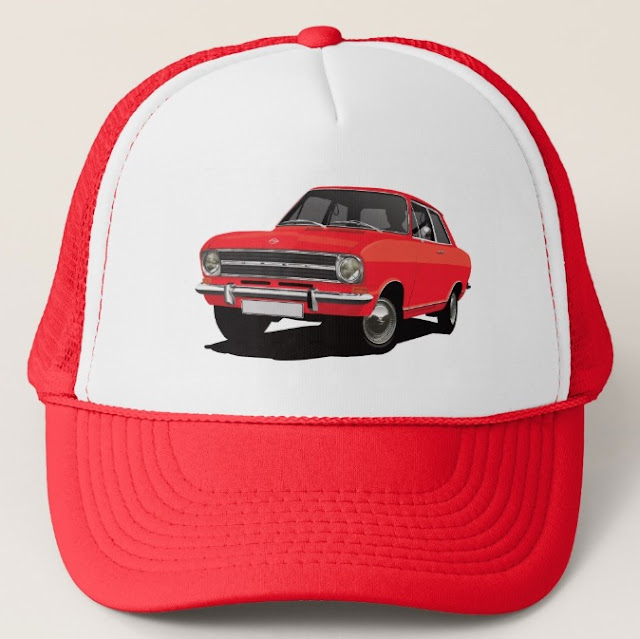 Opel Kadett B Coupé trucker hat