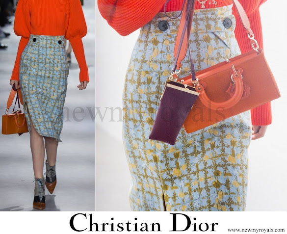 Princess Charlene of Monaco wore Christian Dior Skirt