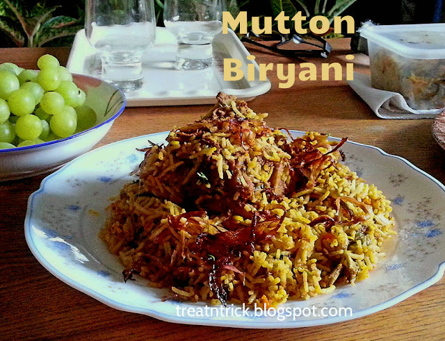 Mutton Biryani  Recipe @ treatntrick.blogspot.com