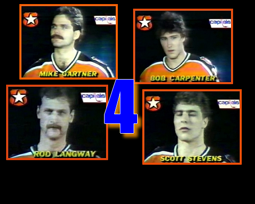 The most number of Capitals named to an All-Star game. (February 12, 1985 - Book Pg. 265)