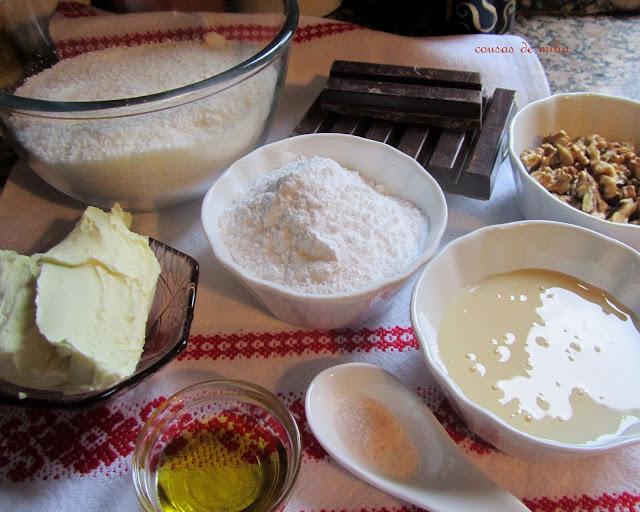 Turrón de coco y nueces sin gluten