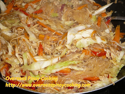 Pansit Sotanghon with Roast Chicken Breast - Cooking Procedure
