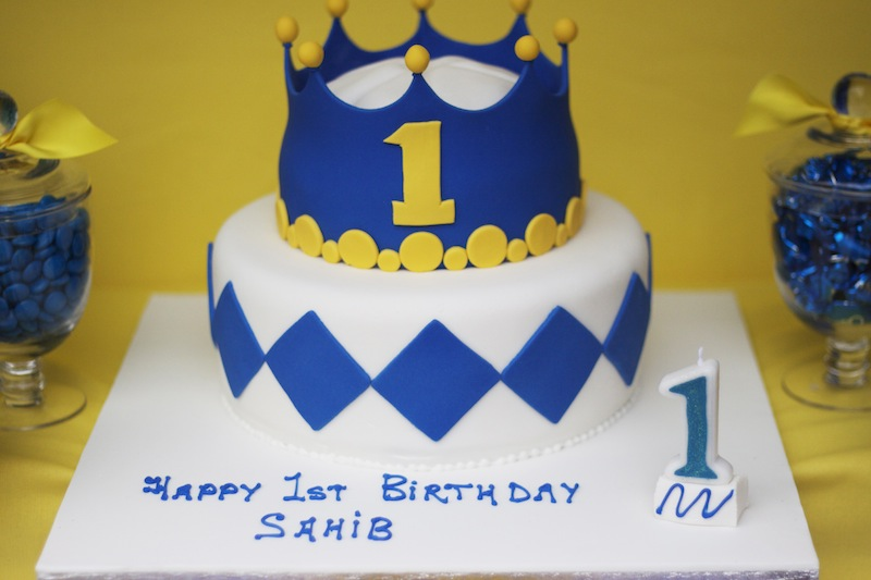 Last Night We Shared A Regal Party Created For Little Princes First Birthday Full Of Bright Colours In Yellow And Blue It Also Included Lots