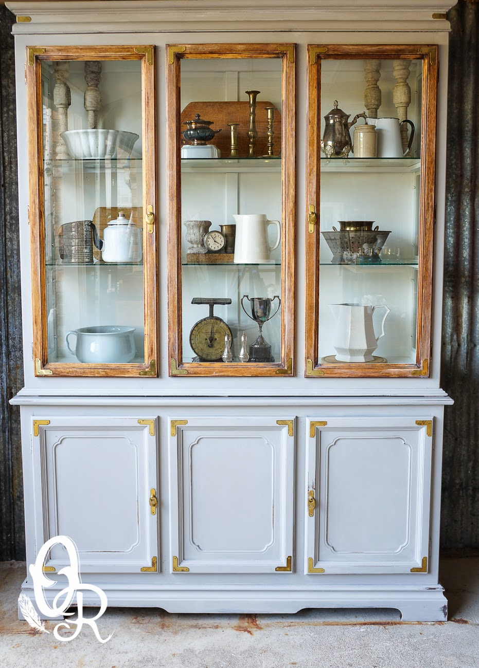 grey china cabinet feathered nest friday country cottage 16083