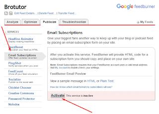 Cara Mengaktifkan Email Subscriber di Google FeedBurner