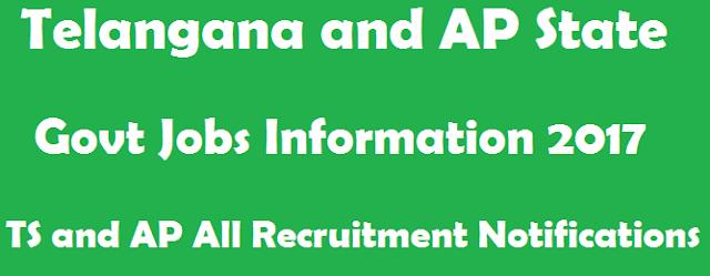 Govt Jobs, latest jobs, TG State, TS Jobs, AP State, AP Jobs