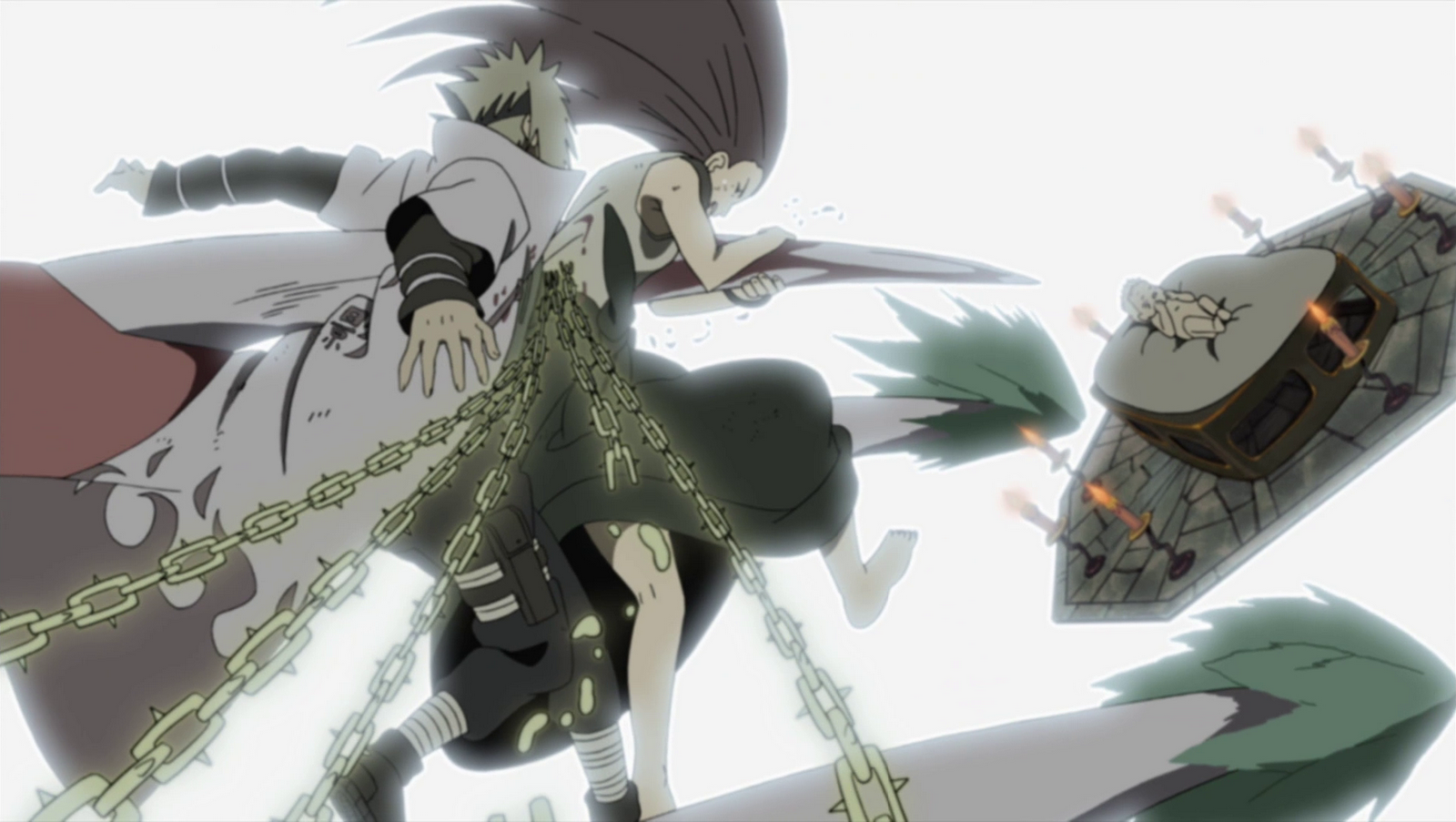 Minato_and_Kushina_protect_Naruto Animes