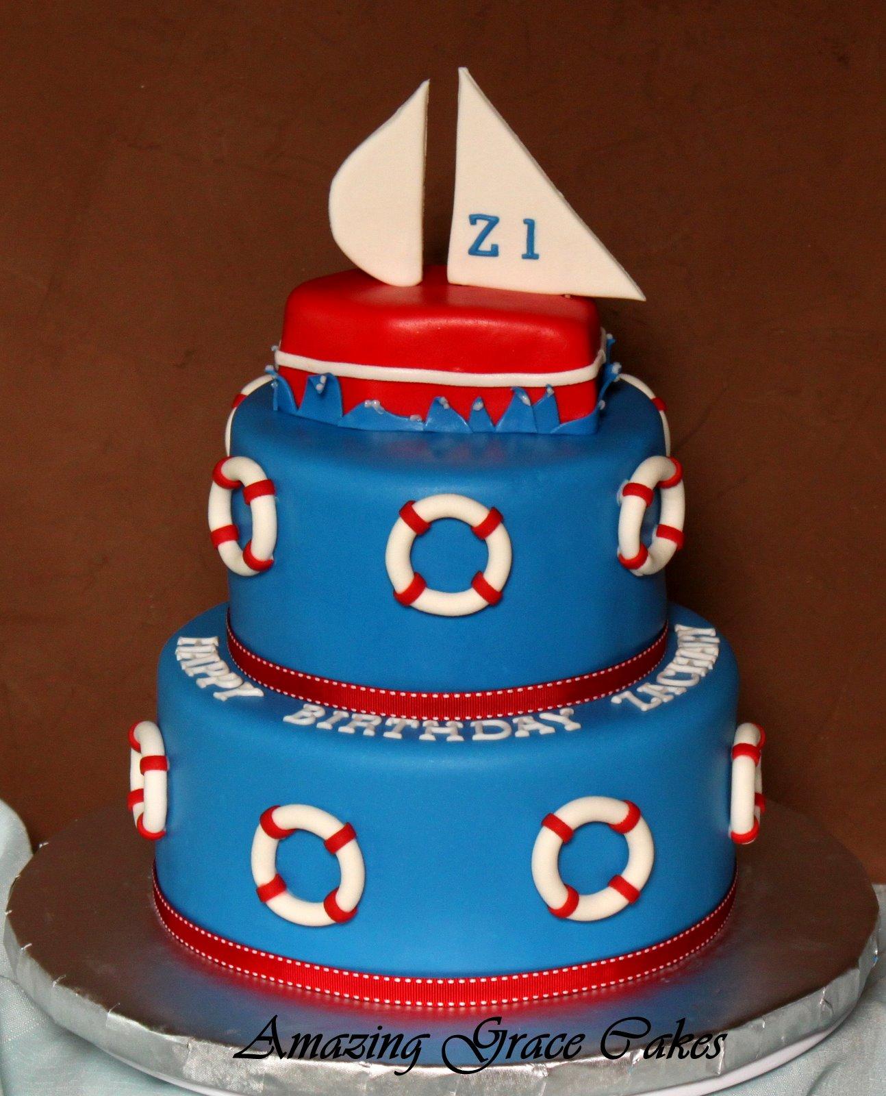 Amazing Grace Cakes: Nautical 1st Birthday