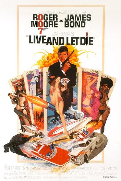 Poster of James Bond Live And Let Die 1973 720p Hindi BRRip Dual Audio