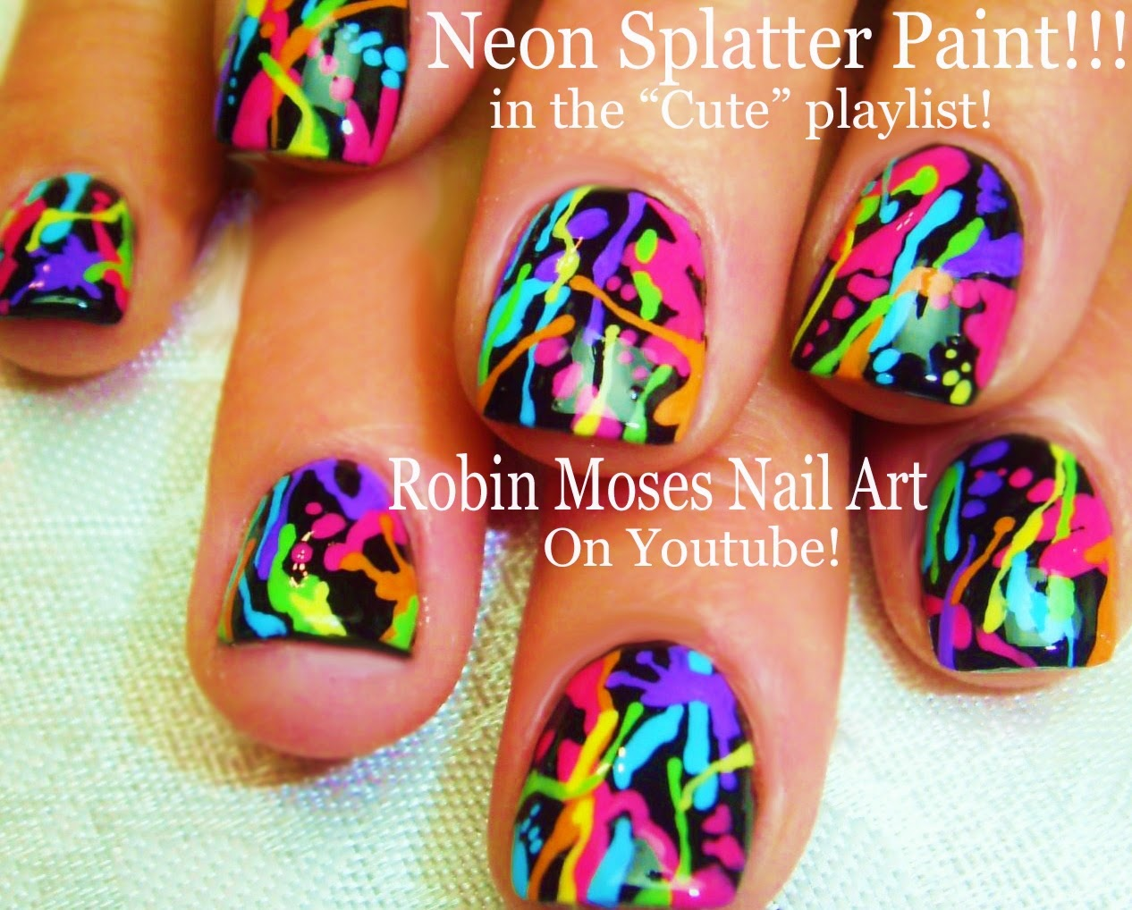 Nail Art by Robin Moses: Bright and Colorful Trendy Kiss prints ...