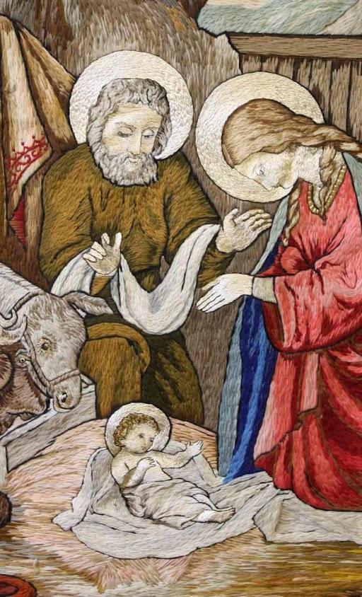 Presépio bordado pelas dominicanas de Stone, Staffordshire, Inglaterra