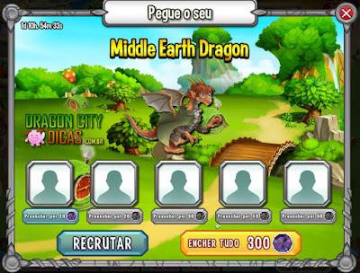Ganhe o Dragão Terra Média!