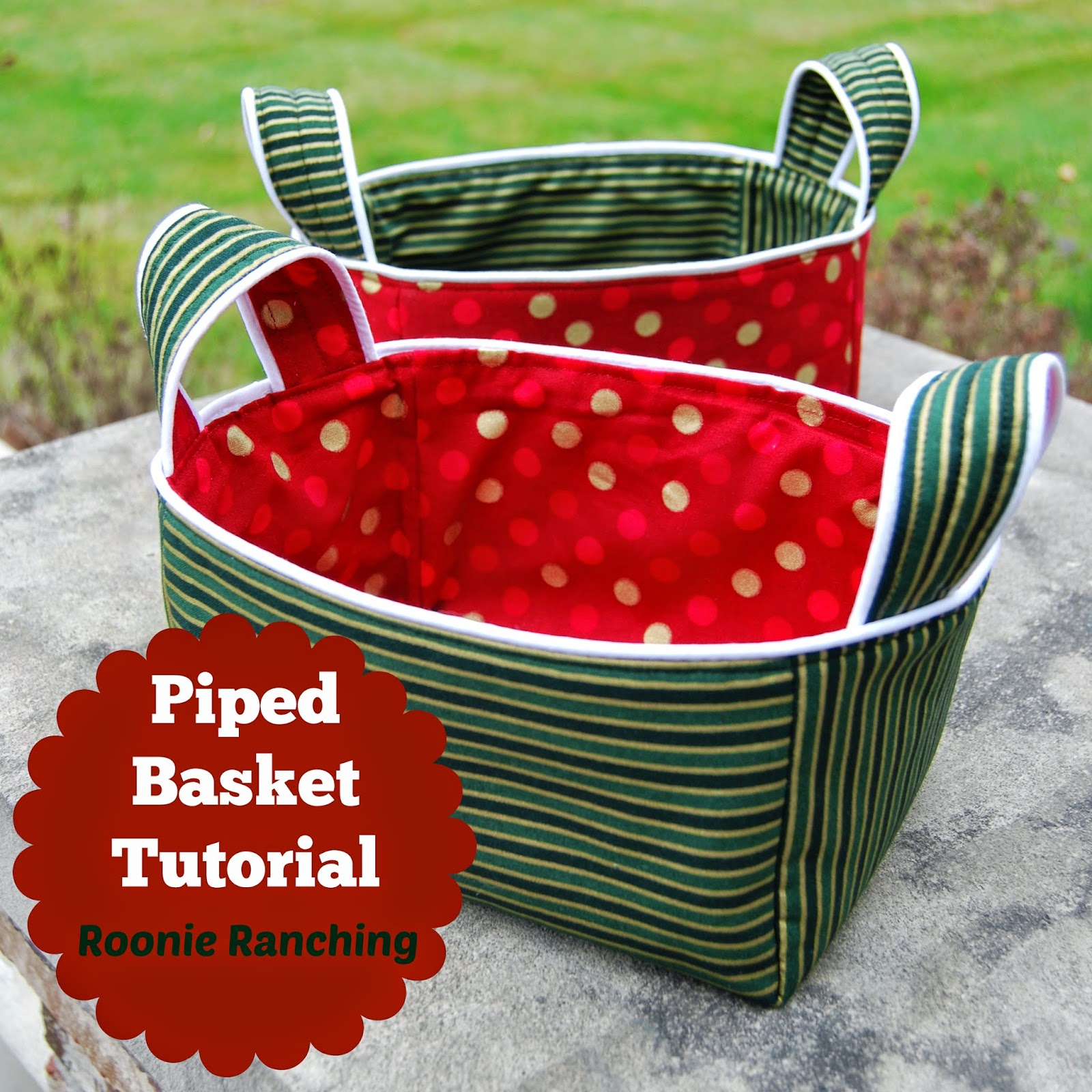 Piped Basket -- Sewing Tutorial
