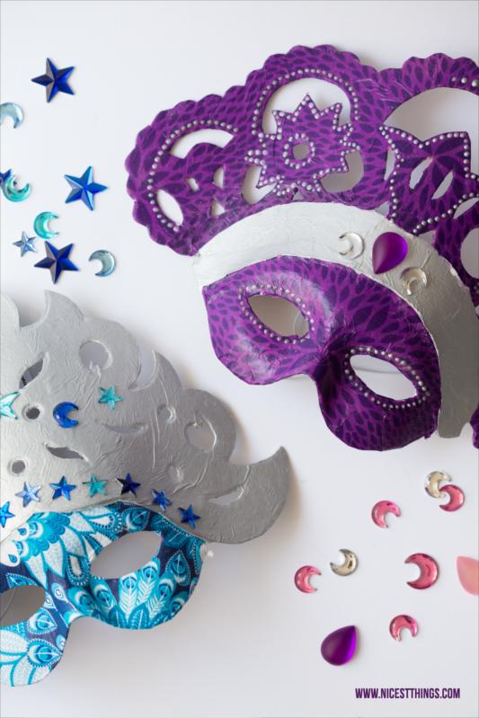 Decopatch Maske: DIY venezianische Masken selbermachen #decopatch #maske #diymaske #decopatchmaske #decopatchdiy #kostüm #karneval #venezianischemaske #diy #diykostüm