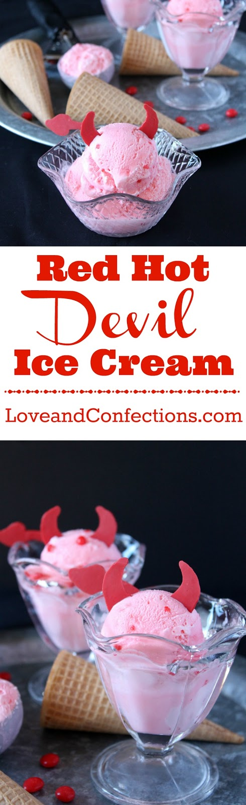 Red Hot Devil Ice Cream from LoveandConfections.com