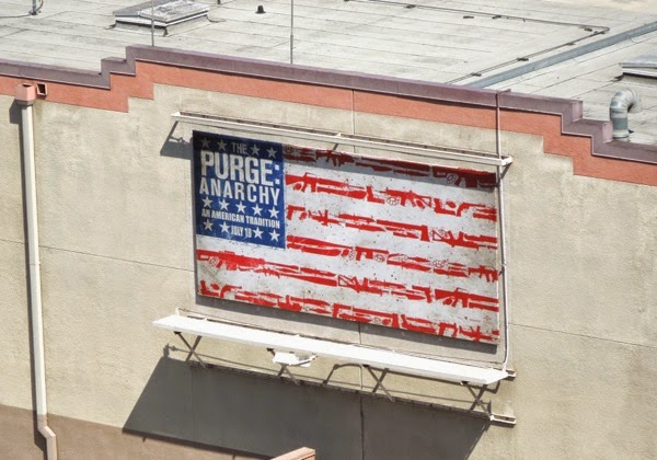 The Purge Anarchy American flag teaser billboard