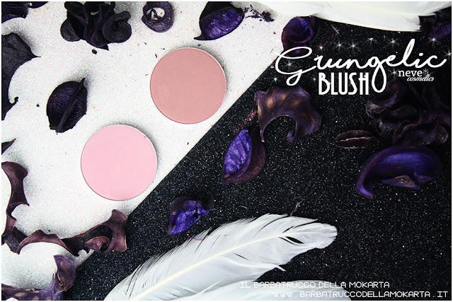 Blush  Grungelic collection Neve cosmetics  recensione, pareri, makeup, consigli, comparazioni
