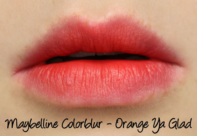 Maybelline Colorblur - Orange Ya Glad Swatches & Review