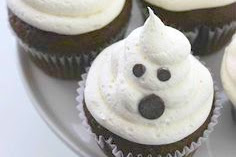 Halloween Marshmallow Ghost Cupcakes Recipe