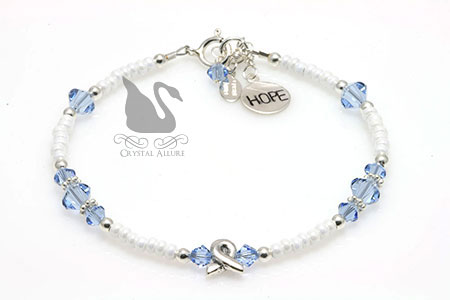 Stephenie's Custom Behcet's Disease Awareness Ribbon Hope Bracelet (BA215)